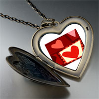 Necklace & Pendants - paper cutout hearts large heart locket pendant necklace Image.