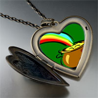 Necklace & Pendants - pot gold large heart locket pendant necklace Image.