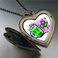 Necklace & Pendants - green beer heart heart locket pendant necklace Image.
