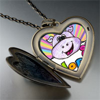 Necklace & Pendants - hope hippo by amber large heart locket pendant necklace Image.