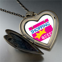 Necklace & Pendants - shopping queen large heart locket pendant necklace Image.