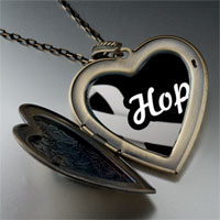 Necklace & Pendants - hope ribbon by amber large heart locket pendant necklace Image.