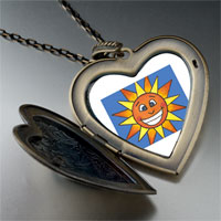 Necklace & Pendants - smiling sunshine by amber large heart locket pendant necklace Image.