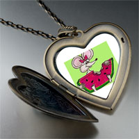Necklace & Pendants - hungry mouse by amber large heart locket pendant necklace Image.
