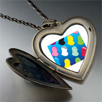 Necklace & Pendants - colorful hearts large heart locket pendant necklace Image.