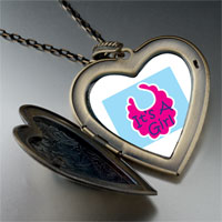 Necklace & Pendants - it' s a girl baby large heart locket pendant necklace Image.