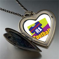 Necklace & Pendants - number 1  football large heart locket pendant necklace Image.