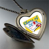 Necklace & Pendants - class 2008  diploma graduation large heart locket pendant necklace Image.