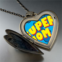 Necklace & Pendants - super mom photo large heart locket pendant necklace Image.