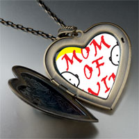 Necklace & Pendants - mom twins large heart locket pendant necklace Image.