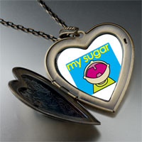 Necklace & Pendants - happy kid sugar large heart locket pendant necklace Image.