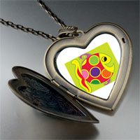 Necklace & Pendants - colorful happy fish large heart locket pendant necklace Image.