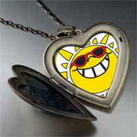 Necklace & Pendants - happy rockin'  sunshine large heart locket pendant necklace Image.