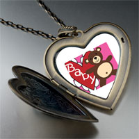Necklace & Pendants - baby heart bear large heart locket pendant necklace Image.