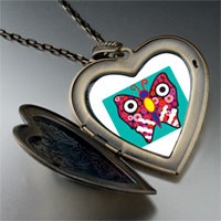Necklace & Pendants - colorful butterfly photo large heart locket pendant necklace Image.