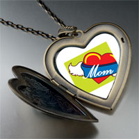 Necklace & Pendants - heart mom wings large heart locket pendant necklace Image.