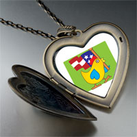Necklace & Pendants - american duck large heart locket pendant necklace Image.