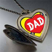 Necklace & Pendants - love dad large heart locket pendant necklace Image.