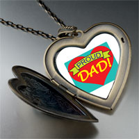 Necklace & Pendants - proud dad large heart locket pendant necklace Image.