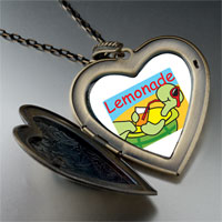 Necklace & Pendants - summer turtle lemonade large heart locket pendant necklace Image.