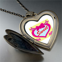 Necklace & Pendants - sweet hearts large heart locket pendant necklace Image.