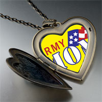 Necklace & Pendants - american army mom large heart locket pendant necklace Image.