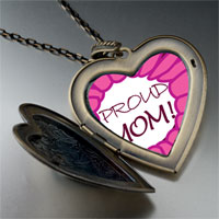 Necklace & Pendants - pink proud mom large heart locket pendant necklace Image.