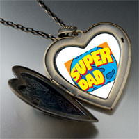 Necklace & Pendants - super dad large heart locket pendant necklace Image.