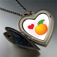Necklace & Pendants - heart orange large heart locket pendant necklace Image.