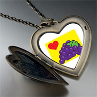 Necklace & Pendants - heart grapes large heart locket pendant necklace Image.
