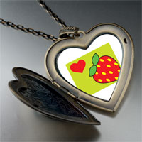 Necklace & Pendants - heart strawberry large heart locket pendant necklace Image.