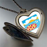 Necklace & Pendants - donut in water large heart locket pendant necklace Image.