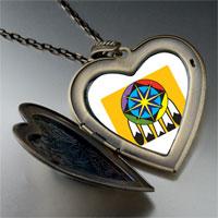 Necklace & Pendants - feather hat large heart locket pendant necklace Image.