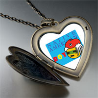 Necklace & Pendants - boy large heart locket pendant necklace Image.