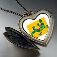 Necklace & Pendants - creative lizard large heart locket pendant necklace Image.