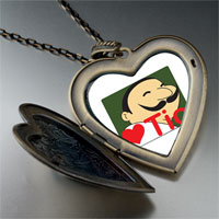Necklace & Pendants - tio heart person large heart locket pendant necklace Image.
