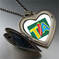 Necklace & Pendants - tia chili pepper large heart locket pendant necklace Image.