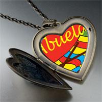 Necklace & Pendants - abuela sewing work large heart locket pendant necklace Image.
