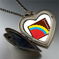 Necklace & Pendants - colorful kokopelli heart large heart locket pendant necklace Image.