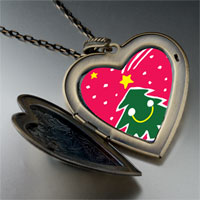 Necklace & Pendants - christmas heart locket pendants happy christmas tree gifts large heart locket pendant necklace Image.