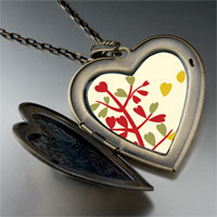 Necklace & Pendants - autumn fall tree large heart locket pendant necklace Image.