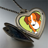 Necklace & Pendants - beagle dog large heart locket pendant necklace Image.