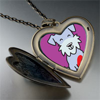 Necklace & Pendants - schnauzer dog large heart locket pendant necklace Image.