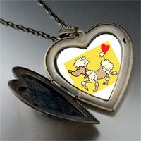 Necklace & Pendants - toy poodle dog large heart locket pendant necklace Image.