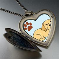 Necklace & Pendants - yellow labrador dog large heart locket pendant necklace Image.
