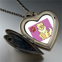 Necklace & Pendants - sheepdog animal large heart locket pendant necklace Image.