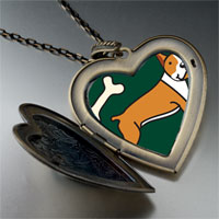 Necklace & Pendants - boxer dog bone large heart locket pendant necklace Image.