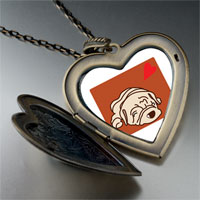 Necklace & Pendants - shar pei dog white large heart locket pendant necklace Image.