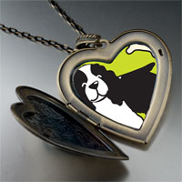 Necklace & Pendants - springer spaniel dog large heart locket pendant necklace Image.