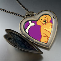 Necklace & Pendants - golden retriever dog large heart locket pendant necklace Image.